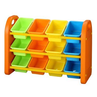 12 Bin Plastic Storage Unit