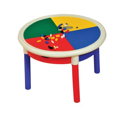 4 Drawer Round Activity Table With Cover (2)