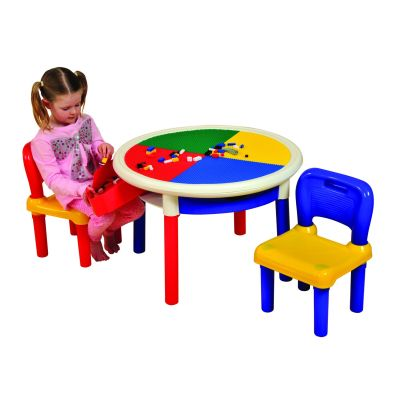 4 Drawer Round Activity Table With Cover (3)