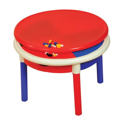 4 Drawer Round Activity Table With Cover