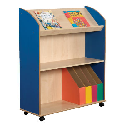 2 Shelf Bookcase With Display Unit