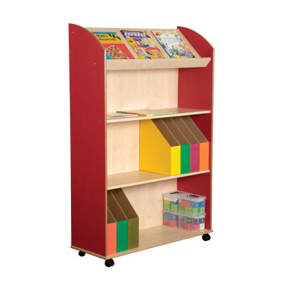 Three Shelf Bookcase With Display Unit