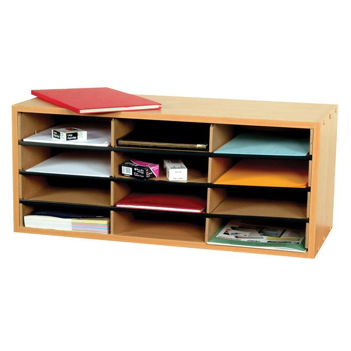 An image of 12 Section Beech Literature Organiser