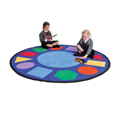 Geometric Shapes Round Rug
