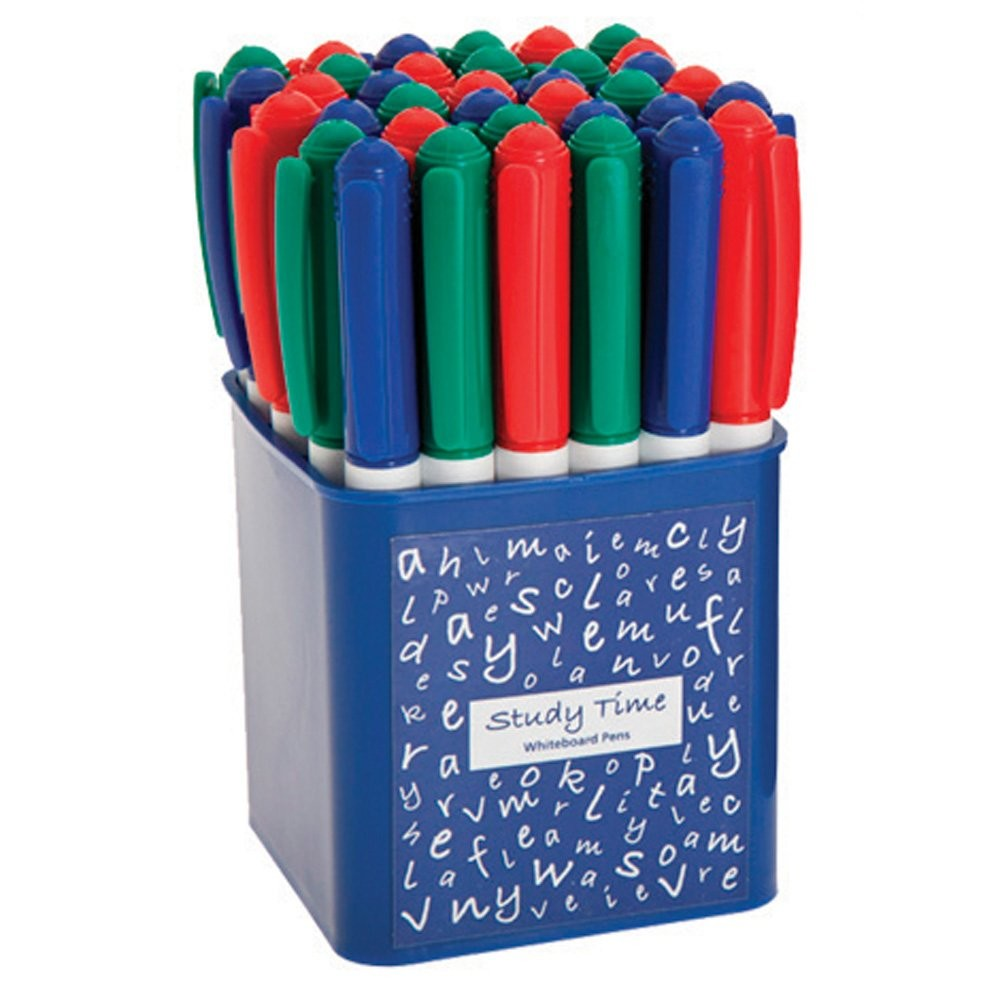 An image of 36 Assorted Medium Tip Dry Wipe Pens - Whiteboards