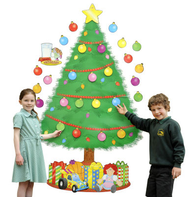 Christmas Tree Display Board.Big Christmas Tree Bulletin Board Pack