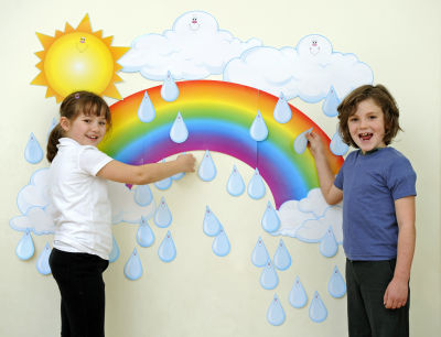 Big Rainbow Bulletin Board Set
