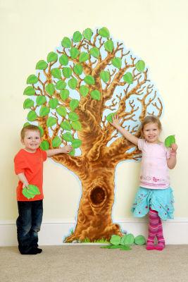 Big Realistic Tree Bulletin Board Set
