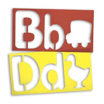 Alphabet & Picture Stencils