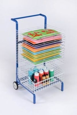 Mobile Painting Dryer With Storage Basket