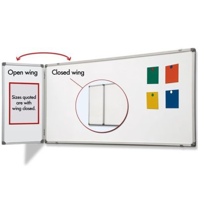 AM Magnetic Steel Whiteboard with Confidential Wing
