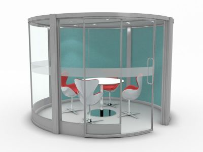 Circular Glazed Pod (2)