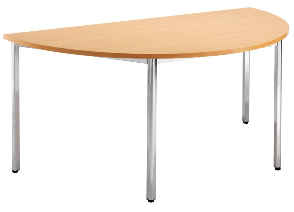 An image of Riva Express Multi Use Half Moon Table - School Dining Tables