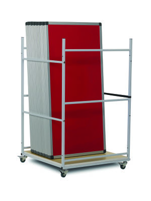 Rectangular On Single Trolley 0094 Red