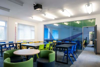 Disport Green And Blue Chairs Classroom