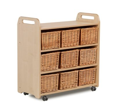 Kidre Mobile Shelf With Back Basket View
