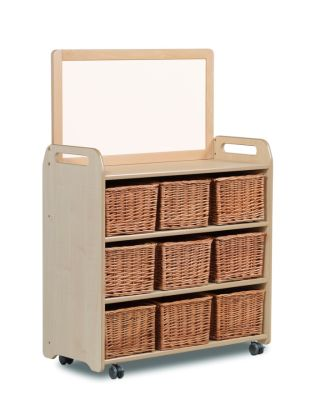 Kidre Mobile Storage With Whiteboard Add-On Unit With Baskets