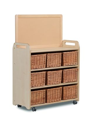 Kidre Mobile Storage With Display Add-On Unit With Baskets