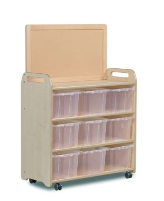 Kidre Mobile Storage With Display Add-On Unit With Clear Tubs