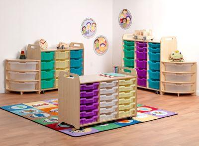 Kidre 3 Column Tray Storage Mood View
