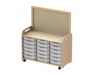 Kidre Tray Storage With Display Add-On 18 Shallow Trays