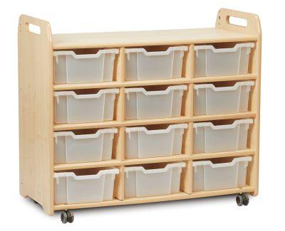 Kidre 3 Column Shelf Storage Clear Trays