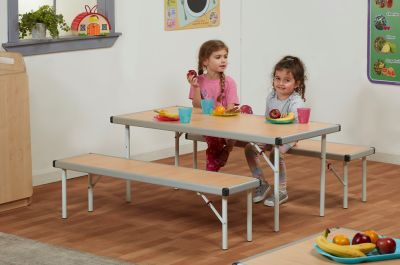 Kidre Fast Fold Table Mood View