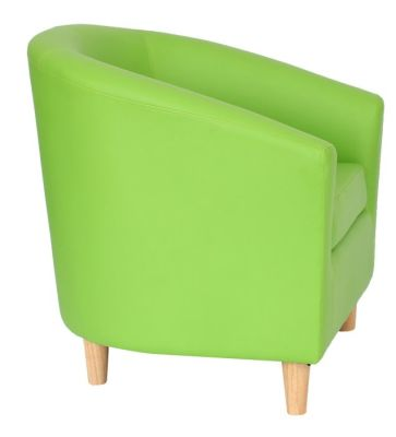 Voele Leather Tub Chair Green Side