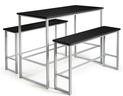 Hermes Bar Height Bench Set Black