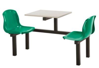 Totnes Fast Food Unit 2 Seater Green Grey