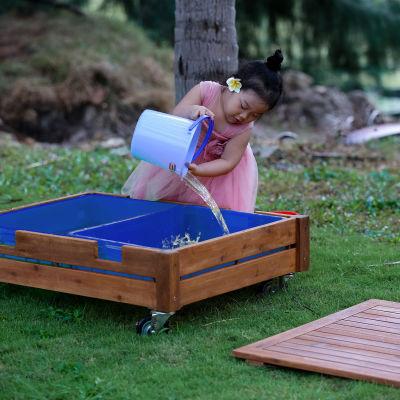 Ares Outdoor Sandbox On Castors Mood View