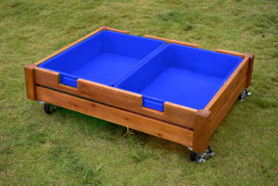 Ares Outdoor Sandbox On Castors View