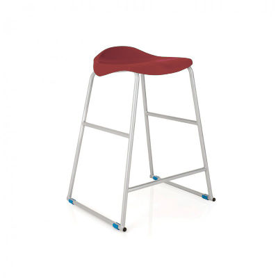 Burgundy Titan Lab Stool