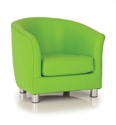 PROTIUM FAUX LEATHER TUB CHAIRS LIME GREEN