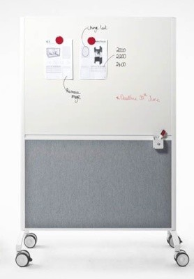 An image of Travis Mobile Freestanding Whiteboard Screens - Whiteboards