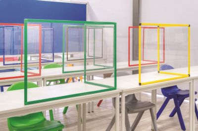 PROTECT CLASSROOM TABLE GLASS PROTECTION SCREEN 2