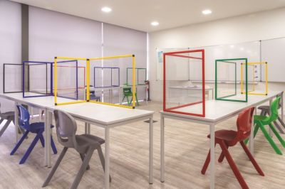 PROTECT CLASSROOM TABLE GLASS PROTECTION SCREEN 3