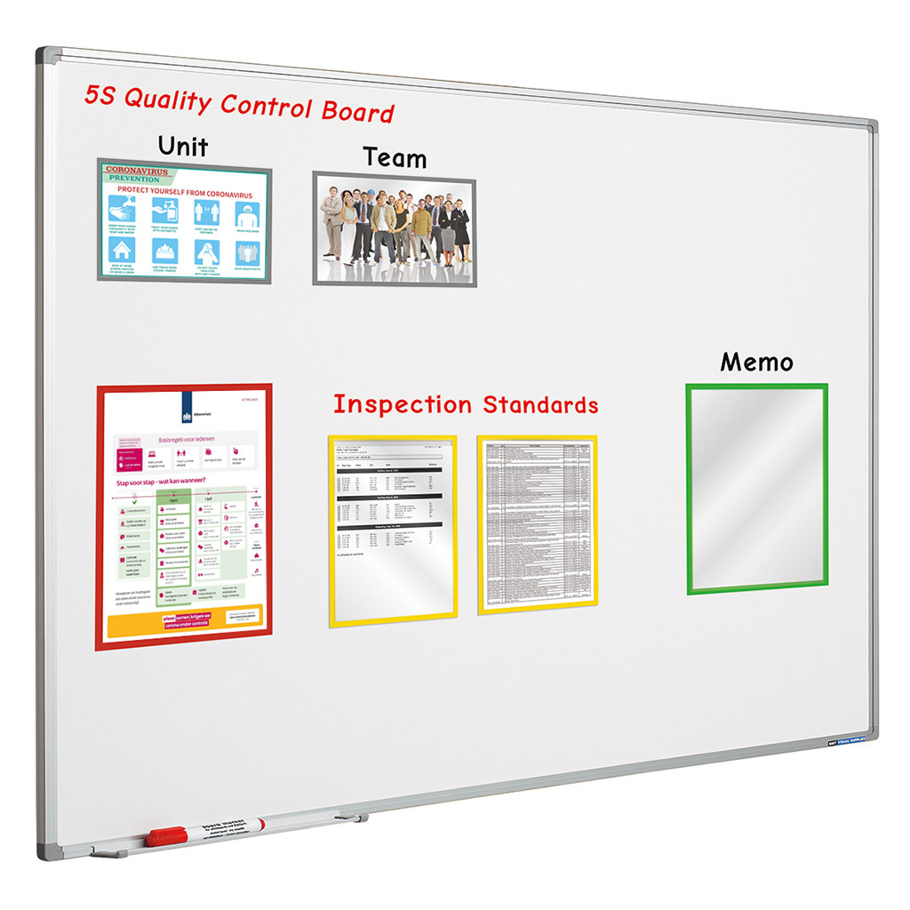 An image of Prota Set of 5 Magnetic A3, A4 or A5 Sleeves - Whiteboards