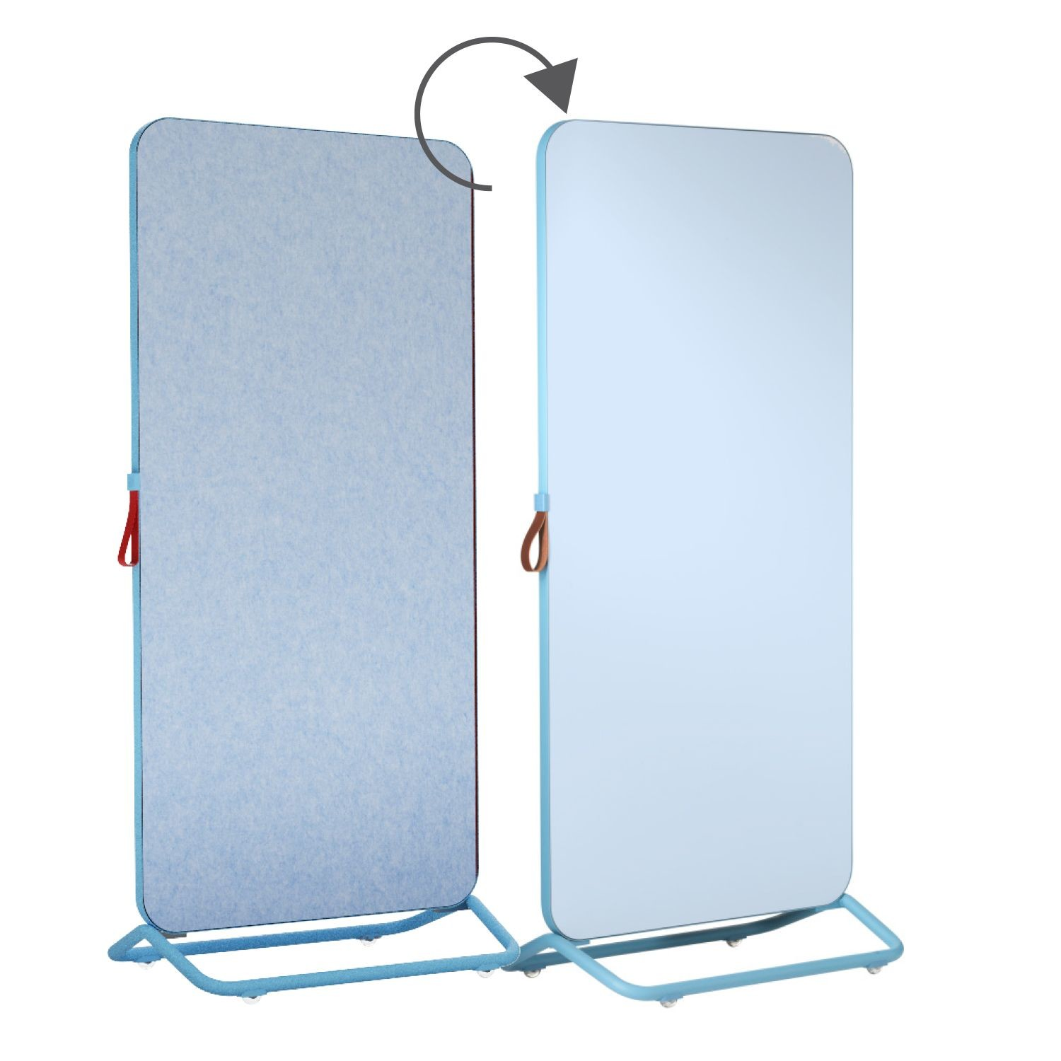 An image of Trema Mobile Combination Whiteboard & Noticeboard - Whiteboard...