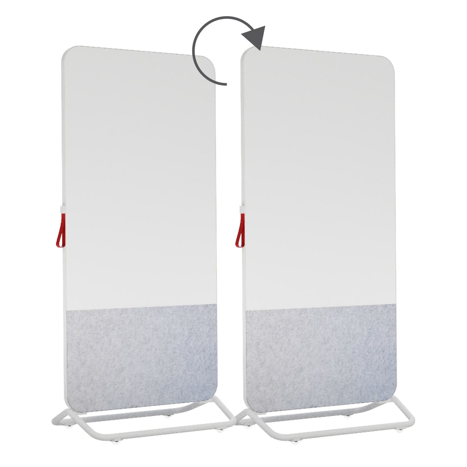 An image of Trema Mobile Whiteboard with Noticeboard Panel - Whiteboards