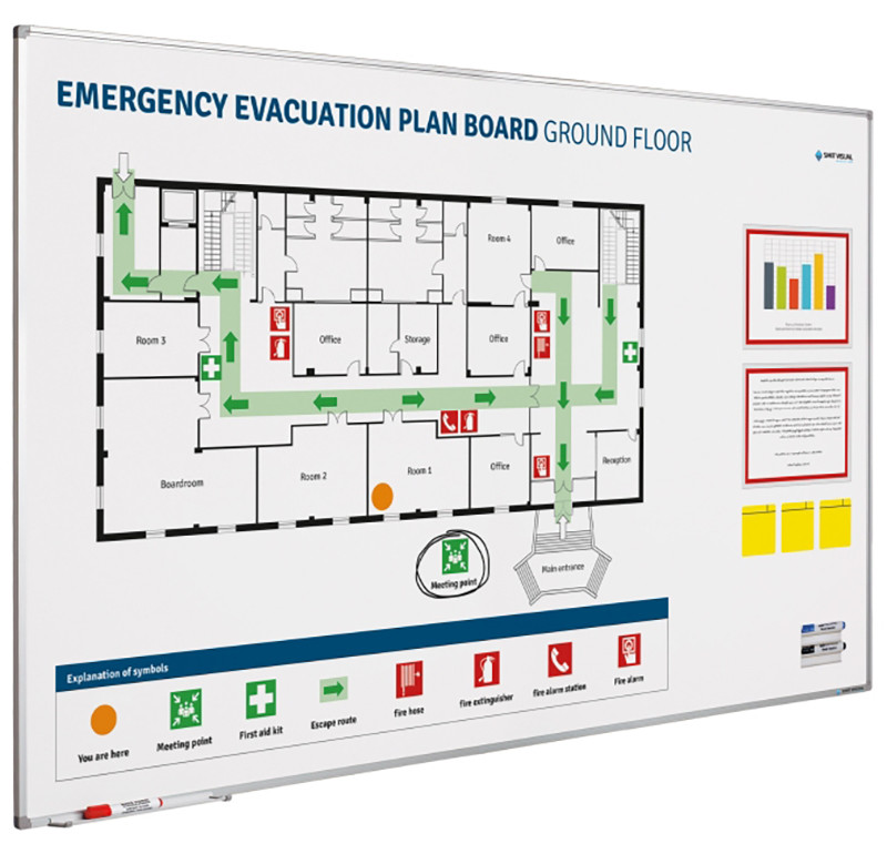 An image of Trema Emergency Evacuation Plan Board - Whiteboards