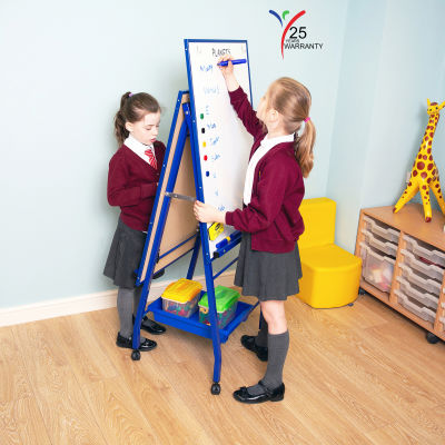 Fully Height Adjustable Mobile Easel Blue 1
