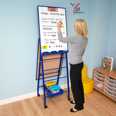 Fully Height Adjustable Mobile Easel Blue 2