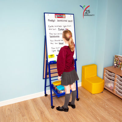 Fully Height Adjustable Mobile Easel Blue 3