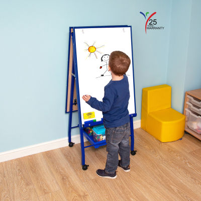 Fully Height Adjustable Mobile Easel Blue 5