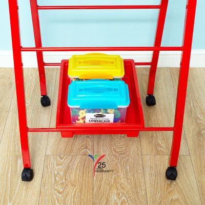 Fully Height Adjustable Mobile Easel Red 8