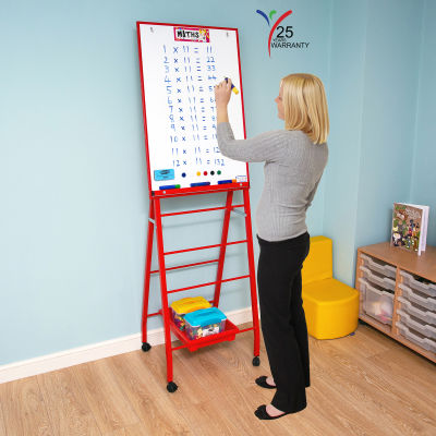 Single Board Mobile A Frame Easel Red 1