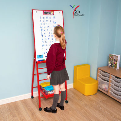Single Board Mobile A Frame Easel Red 2