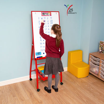 Single Board Mobile A Frame Easel Red 3