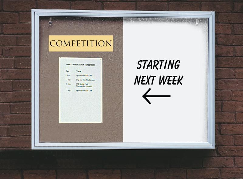An image of Pinup External Combination Noticeboard & Whiteboard - Whiteboa...